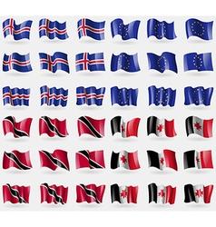 Iceland European Union Trinidad and Tobago vector