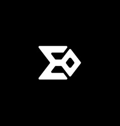 Initial letter e o logo template with sigma symbol vector