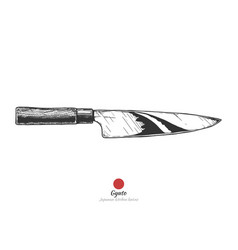 japanese kitchen knife vector image