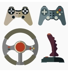 Joystick flat icons vector image