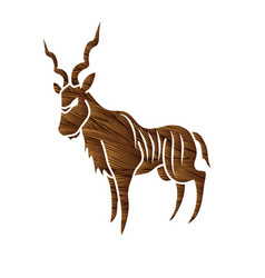 Kudu standing graphic vector