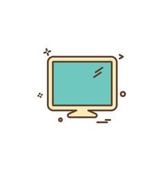 lcd screen icon design vector image