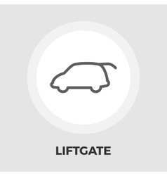 Liftgate car flat icon vector