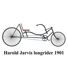 longrider retro bike isolated on white vector image