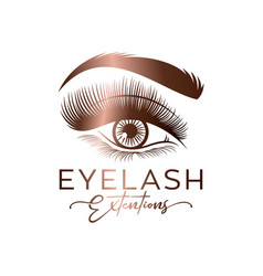 luxury beauty eyelashes logo vector image