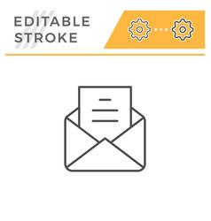mail editable stroke line icon vector image
