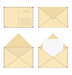 mail envelope set vintage mail envelopes vector image