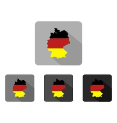 Map germany vector
