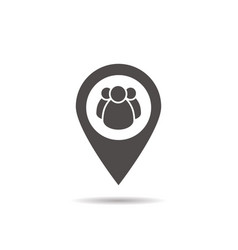 Meeting point location icon vector