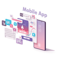 mobile app creation vector image