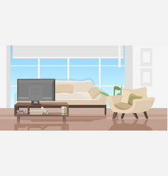 modern living room with furniture contemporary hoe vector image