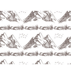 mountain landscape seamless pattern background vector image