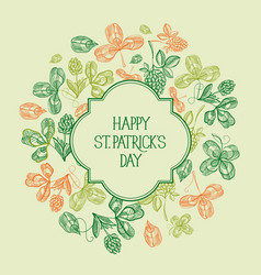 natural st patricks day template vector image