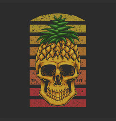 pineapple skull vector image