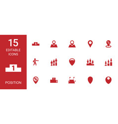 position icons vector image