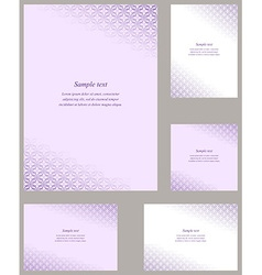 Purple page corner design template set vector