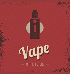Retro vaporizer electric cigarette vapor mod vector