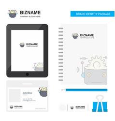 Robot business logo tab app diary pvc employee vector