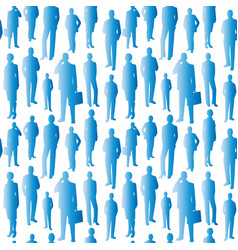 seamless pattern blue business people vector image