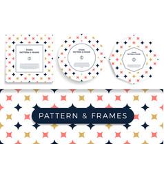 set poster banner or card frame border vector image