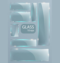seth empty transparent glass plates vector image