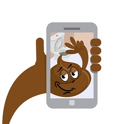 Shit selfie turd makes selfies hilarious shit vector