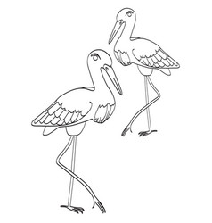 Single icon with image of storks vector