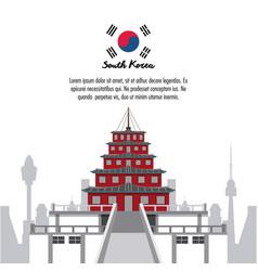 South korea infographic vector