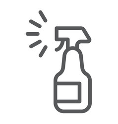 Sprayer line icon aerosol and clean bottle sign vector