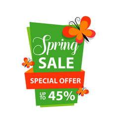 Spring sale special offer up to 45 template design vector