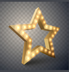 Star with lights isolated vector