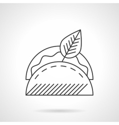 Taco line icon flat thin line icon vector