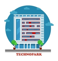 Technopark building in technocity for IT firm vector image