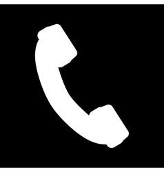 The phone icon Phone symbol Flat vector image