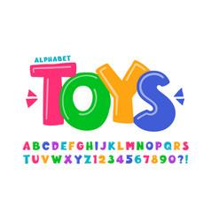 Trendy comical original alphabet design colorful vector
