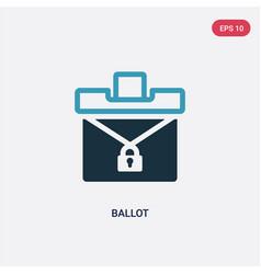 Two color ballot icon from political concept vector