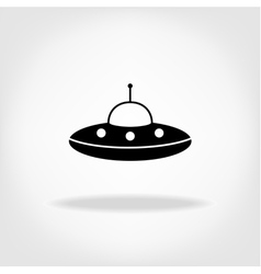 UFO Icon UFO Flying Saucer vector image