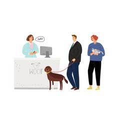 veterinary hospital queue vector image