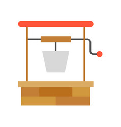 Water well gardening and agriculture icon vector