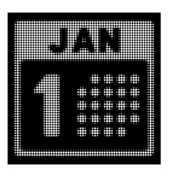 white halftone january first icon vector image