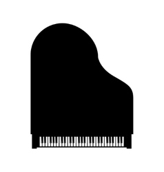 black grand piano top view vector image