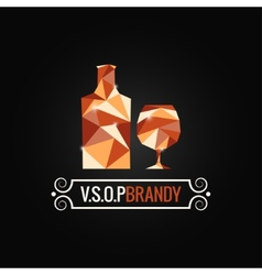 Brandy glass poly design background vector