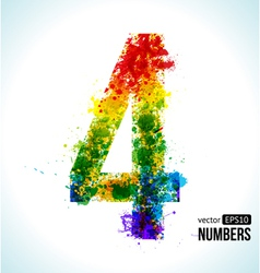 Color paint splashes Gradient Number 4 vector image vector image
