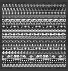 decorative borders in vintage style on chalkboard vector image