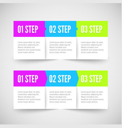 Modern infographic template flat styled vector