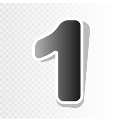 number 1 sign design template element new vector image
