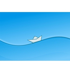 Ship on waves vector image vector image