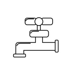 silhouette faucet closed to save water vector image