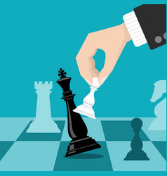 business checkmate strategy concept with vector image