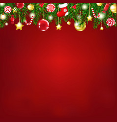 christmas composition vector image